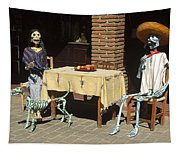Mexican Antique Family Tapestry