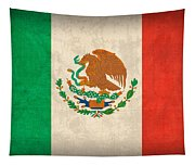 Mexico Flag Vintage Distressed Finish Tapestry
