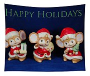 Mice Holiday Tapestry