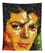 Michael Jackson In The Way Of Arcimboldo Tapestry