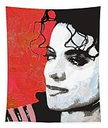 Michael Red And White Tapestry