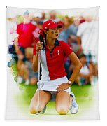 Michelle Wie Of The Usa Solhiem Cup Reacts After Missing A Putt Tapestry