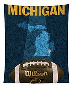 Michigan Football Poster Tapestry
