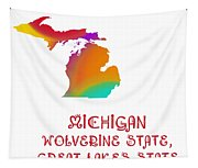 Michigan State Map Collection 2 Tapestry