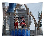 Mickey And Minnie In Living Color Tapestry