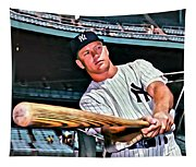 Mickey Mantle Painting Tapestry