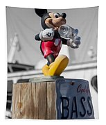 Mickey On A Post Tapestry