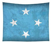 Micronesia Flag Vintage Distressed Finish Tapestry