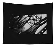 Mid Span  In Black And White Tapestry