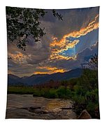 Mid-summer Sunset Tapestry by Darrell E Spangler