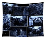 Midnight At The Prison Collage Tapestry