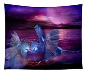 Midnight Blue Rendevous Tapestry