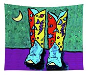 Midnight Cowboy Boots Tapestry