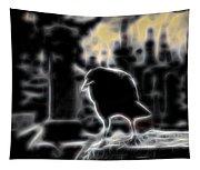 Midnight Glow Crow Tapestry
