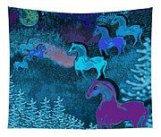 Midnight Horses Tapestry