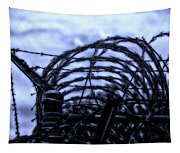 Midnight In The Prison Yard Tapestry