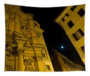Midnight Roman Facades In Yellow  Tapestry