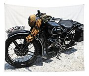 Military Style Bmw Motorcycle Tapestry