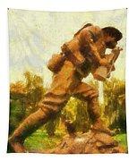 Military Ww I Doughboy 01 Photo Art Tapestry