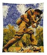 Military Ww I Doughboy 02 Photo Art Tapestry