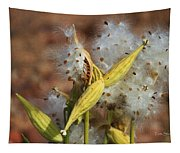 Milk Weed Spewing Its Seeds Tapestry