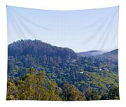 Mill Valley Ca Hills With Fog Coming In Left Panel Tapestry