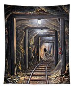 Mine Shaft Mural Tapestry