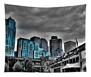 Miner's Landing On Pier 57 - Seattle Washington Tapestry