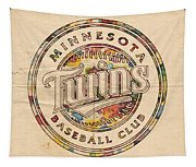 Minnesota Twins Logo Vintage Tapestry