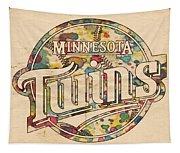 Minnesota Twins Poster Vintage Tapestry