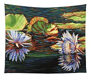 Mirrored Lilies Tapestry