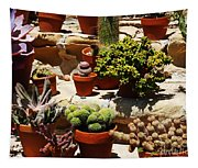 Mission Cactus Garden Tapestry
