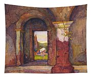Mission Of San Juan Capistrano By Rowena Meeks Abdy 1887-1945  Tapestry