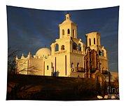 Mission San Xavier Del Bac Last Light Tapestry