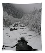 Mist Above The Creek Tapestry