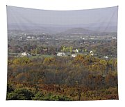 Misty Fall Pano Of The Shenandoah Valley Tapestry