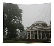 Misty Morning At Monticello Tapestry