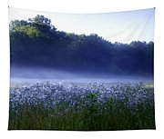 Misty Morning At Vally Forge Tapestry