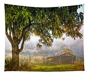 Misty Mountain Barn Tapestry