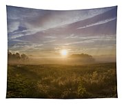 Misty Sunrise At Valley Forge Tapestry