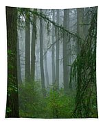Misty Woodland Tapestry