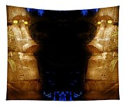 Moai Gold Tapestry
