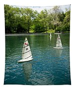 Model Boats On Conservatory Water Central Park Tapestry
