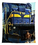 Modern Train Engine Tapestry