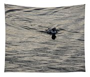 Moire Silk Water And A Long Tailed Duck Tapestry