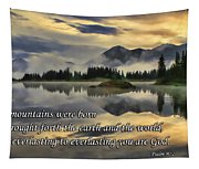 Molas Lake Sunrise With Scripture Tapestry