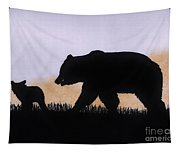 Momma Bear And Cub Tapestry