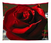 Mom's Red Rose Happy Birthday Wife Tapestry