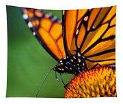 Monarch Butterfly Headshot Tapestry
