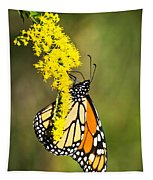 Monarch Butterfly On Goldenrod Tapestry